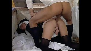 Slutty nun ass fucked doggystyle like a whore!