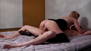 Stepmom helps stepson with porn addiction and lets him cum inside her