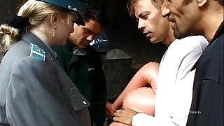 Hot policewoman banged by Rocco Siffredi and friends